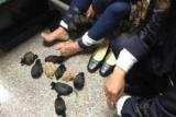 Женщина с 24-грызуны под юбкой дал странная походка